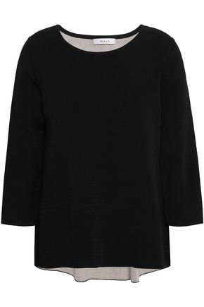MILLY Reversible stretch-knit sweater