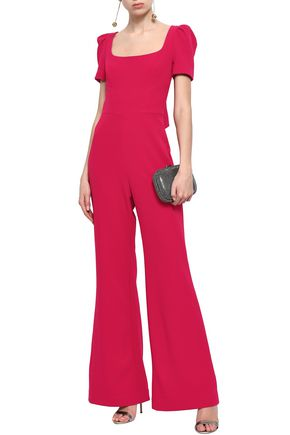 REBECCA VALLANCE Knotted stretch-crepe jumpsuit
