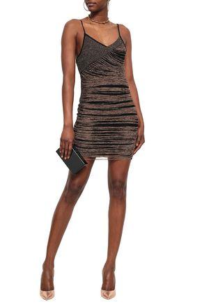 BALMAIN Metallic knitted mini dress