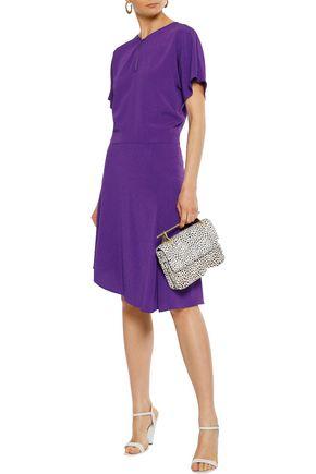 VANESSA BRUNO Asymmetric metallic crepe dress