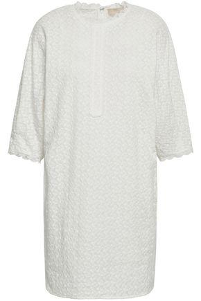 VANESSA BRUNO Lace-trimmed embroidered cotton mini dress