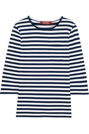 MAX MARA Dadua striped cotton-jersey top