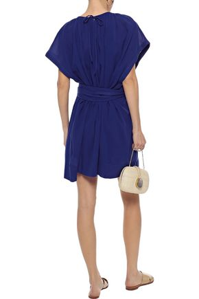 VANESSA BRUNO Linsay belted cotton-jersey mini dress