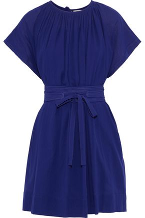 VANESSA BRUNO Linsay belted cotton-jersey mini dress