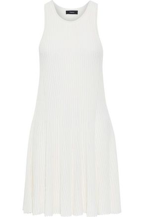 THEORY Fluted ribbed-knit mini dress