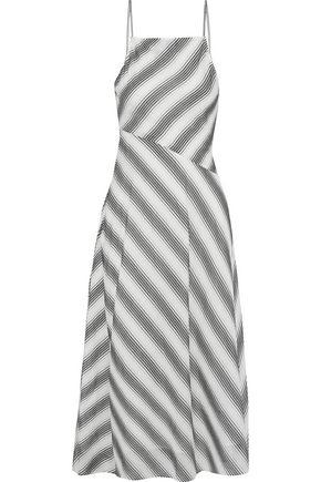33c7ca584b THEORY Summer Athens striped cotton and silk-blend midi dress