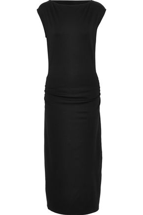 THEORY Ruched jersey midi dress