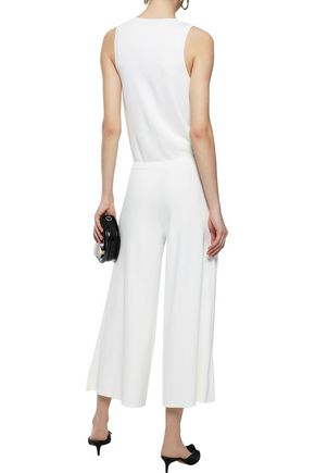 THEORY Lustrate cropped wrap-effect stretch-knit jumpsuit