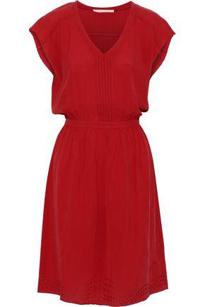 VANESSA BRUNO Inaya pintucked embroidered seersucker dress
