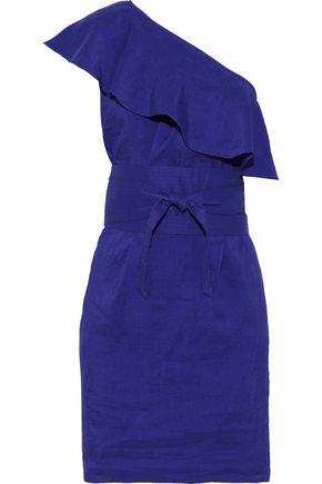 VANESSA BRUNO Ilesse one-shoulder ruffled seersucker mini dress