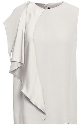 JOSEPH Draped satin-crepe top