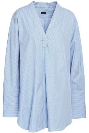 JOSEPH Eamon pinstriped cotton-poplin tunic