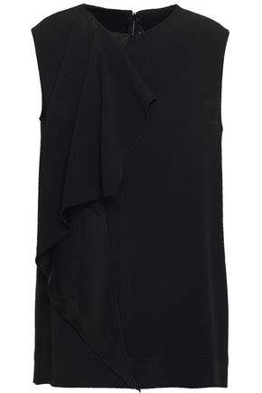 JOSEPH Pearce draped satin-crepe top