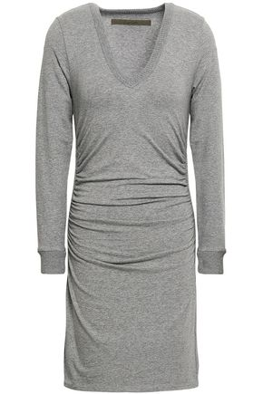 ENZA COSTA Ruched cotton-blend jersey mini dress