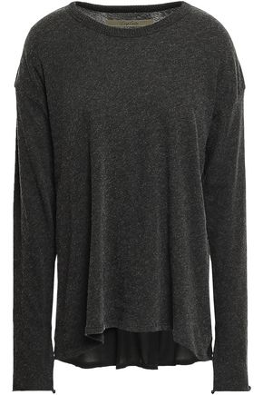 ENZA COSTA Paneled cotton and cashmere-blend top