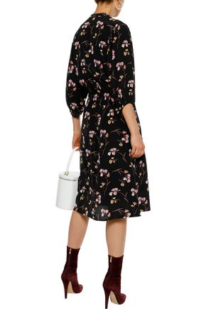 VANESSA BRUNO Shirred floral-print silk dress