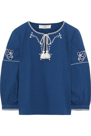 VANESSA BRUNO ATHE' Embroidered cotton blouse