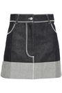 ACNE STUDIOS Dive Den two-tone denim mini skirt