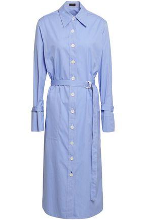 JOSEPH Striped cotton-poplin midi shirt dress