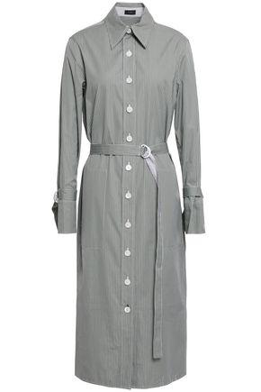 JOSEPH Locke pinstriped cotton-poplin midi shirt dress