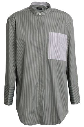 JOSEPH Callen pinstriped cotton-poplin shirt