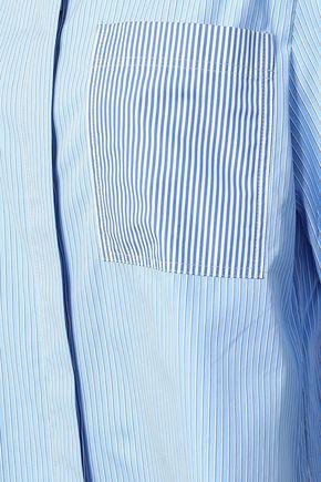 JOSEPH Callen pinstriped cotton-poplin shirt