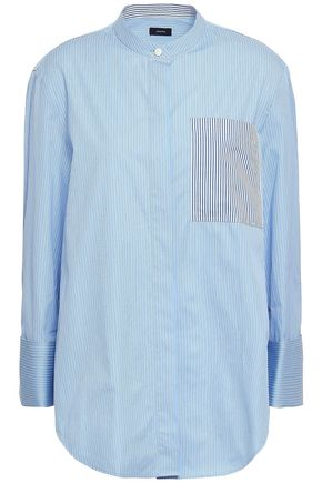 JOSEPH Callen striped cotton-poplin shirt