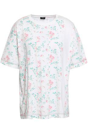JOSEPH Paneled floral-print cotton-jersey T-shirt