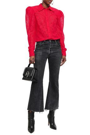 MAGDA BUTRYM Gathered lace shirt