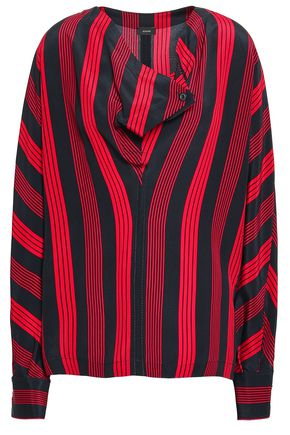 JOSEPH Leigh striped silk crepe de chine blouse