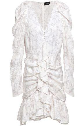 MAGDA BUTRYM Minsk ruffled floral-print silk-jacquard mini dress