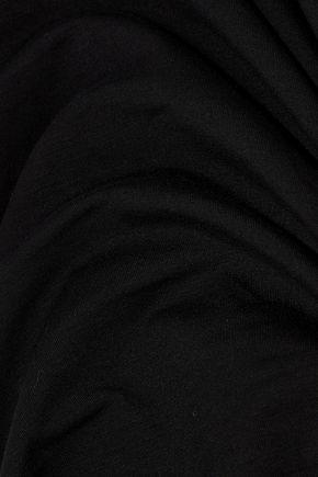 ENZA COSTA Ruched striped stretch-jersey dress