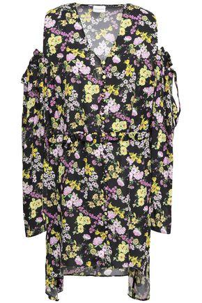 MAGDA BUTRYM Trento cold-shoulder floral-print silk crepe de chine mini dress
