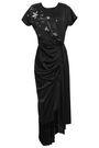 MAGDA BUTRYM Ruched embellished silk-satin gown