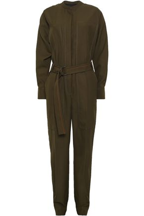 JOSEPH Belted canvas jumpsuit