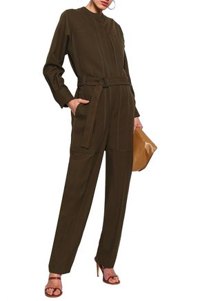 JOSEPH Ted belted canvas jumpsuit
