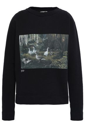 ACNE STUDIOS Printed French cotton-terry sweatshirt