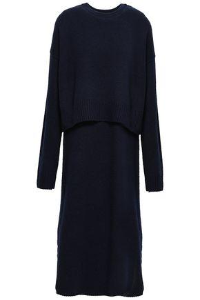 JOSEPH Robin layered cutout cashmere midi dress