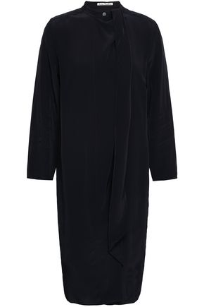 ACNE STUDIOS Draped habotai dress