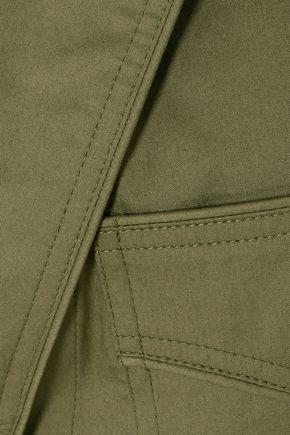 JOHANNA ORTIZ Oriana wrap-effect stretch-cotton poplin shirt