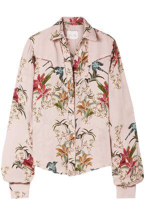 "JOHANNA ORTIZ قميص ""أزاليا"" من قماش جورجيت الحريري مطبع برسومات"