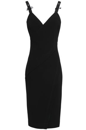 JASON WU | Jason Wu Embellished Grosgrain-Trimmed Crepe Dress | Goxip