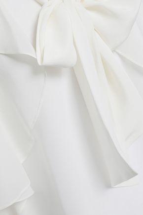 JASON WU Pussy-bow ruffled silk crepe de chine blouse