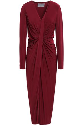 JASON WU | Jason Wu Twist-Front Stretch-Jersey Midi Dress | Goxip