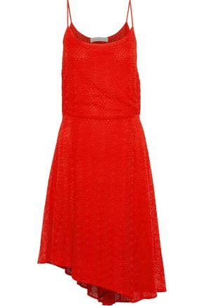 VANESSA BRUNO Gislain asymmetric pleated broderie anglaise dress