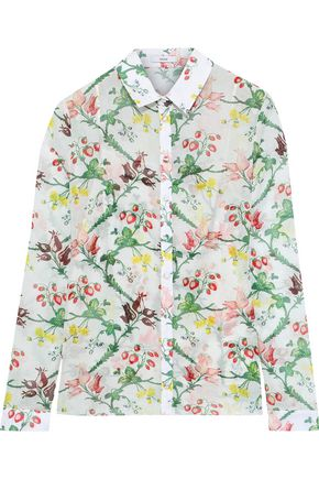 ERDEM Cecilia printed cotton-gauze shirt