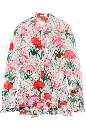 ERDEM Liya floral-print silk-georgette shirt