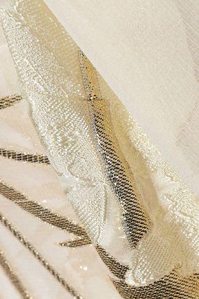 ERDEM Alita metallic fil coupé georgette shirt