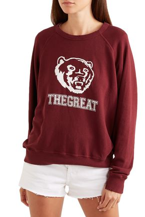 THE GREAT. The College printed French cotton-terry sweatshirt
