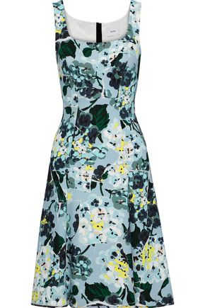 ERDEM Tate fluted floral-print crepe dress